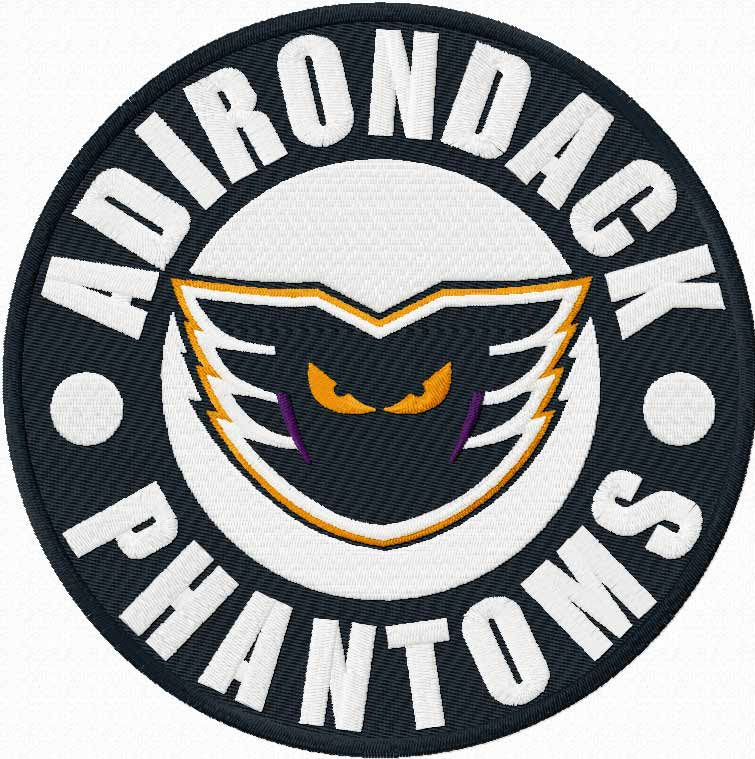 Adirondack Phantoms logo machine embroidery design