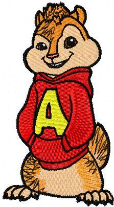 Alvin 1 embroidery design