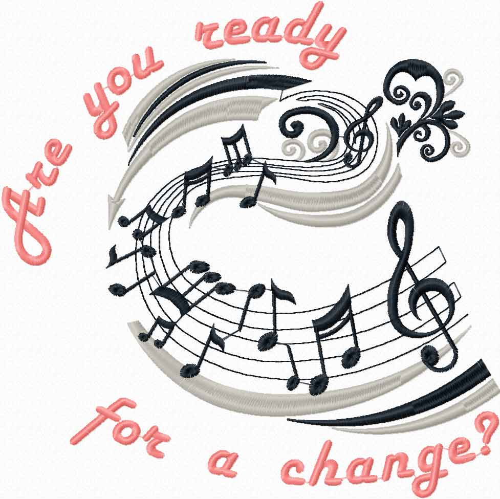 Are you ready for change free machine embroidery design
