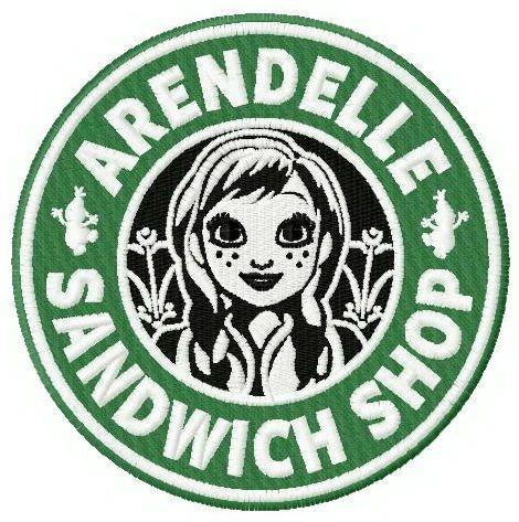 Arendelle sandwich shop machine embroidery design