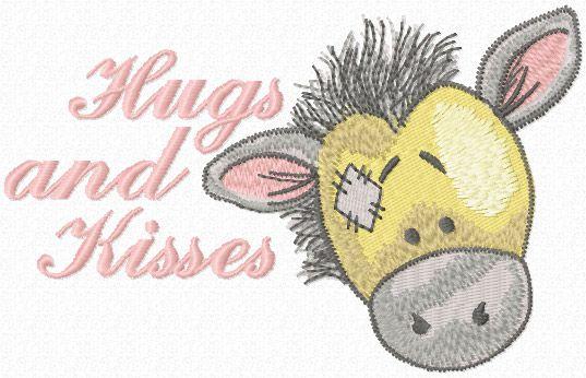 Hugs and kisses Bobbins machine embroidery design
