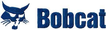 Bobcat logo embroidery design