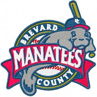 Brevard County Manatees Logo machine embroidery design