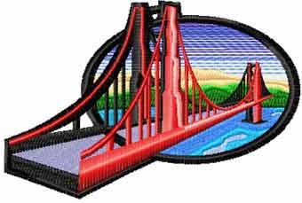 Bridge free machine embroidery design