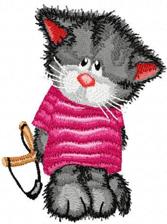 Cat is hooligan machine embroidery design