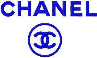 Сhanel logo machine embroidery design