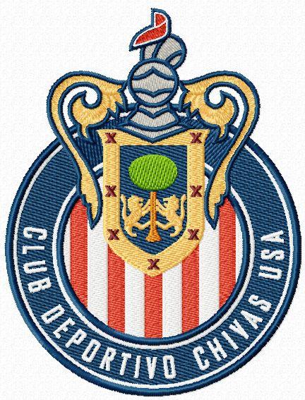 Club Deportivo Chivas USA logo machine embroidery design