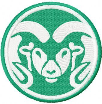 Colorado State Rams machine embroidery design