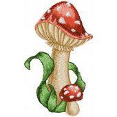 Amanita small mushroom machine embroidery design