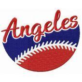 Angeles fan logo embroidery design