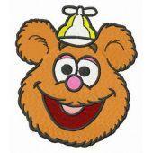 Baby Fozzie head embroidery design