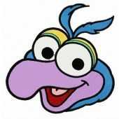 Baby Gonzo head embroidery design