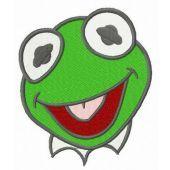 Baby Kermit head embroidery design