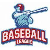 Baseball league embroidery design 2