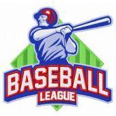 Baseball league embroidery design