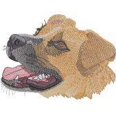 Big dog muzzle embroidery design