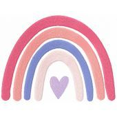 Boho Rainbow embroidery design
