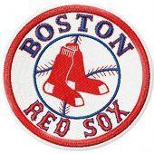 Boston Red Sox logo embroidery design