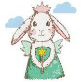 Bunny fairy machine embroidery design 2