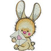 Bunny's letter machine embroidery design