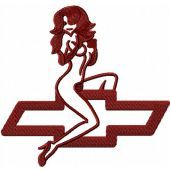 Chevrolet Lady logo embroidery design