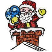 Christmas drawings - Santa embroidery design