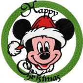 Christmas Mickey Mouse embroidery design 3