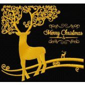 Christmas deer machine embroidery design 2