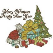 Christmas eve embroidery design