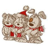 Christmas songs embroidery design 4