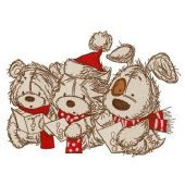 Christmas songs embroidery design 6