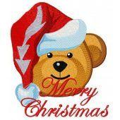 Christmas teddy bear machine embroidery design 10