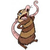 Crash Possum embroidery design