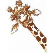 Curious giraffe embroidery design