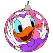 Daisy Duck Christmas Ball machine embroidery design