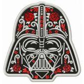 Darth Vader in bloom embroidery design