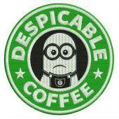 Despicable coffee machine embroidery design