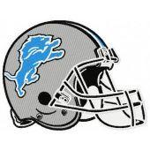 Detroit Lions helmet machine embroidery design