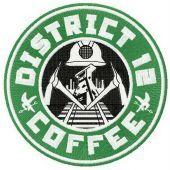 District 12 coffee machine embroidery design