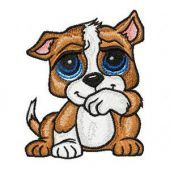 Dog embroidery design 3