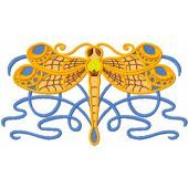 Fashion Celtic Dragonfly machine embroidery design