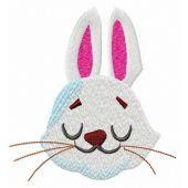 Dreamy bunny muzzle embroidery design