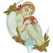 Forest Angel embroidery design