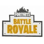 Fortnite Battle Royale logo embroidery design