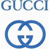 Gucci logo machine embroidery design