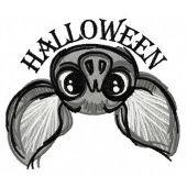 Halloween bat machine embroidery design 2