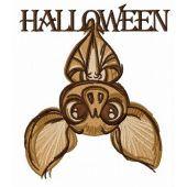Halloween bat machine embroidery design 4