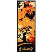 Halloween bookmark machine embroidery design
