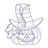 Halloween pumpkin machine embroidery design 4