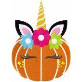 Halloween unicorn embroidery design